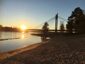 Midnight sun from Rovaniemi beach