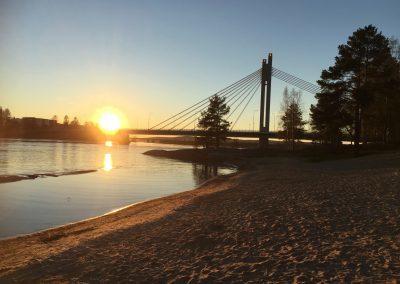 Midnight sun from Rovaniemi beach