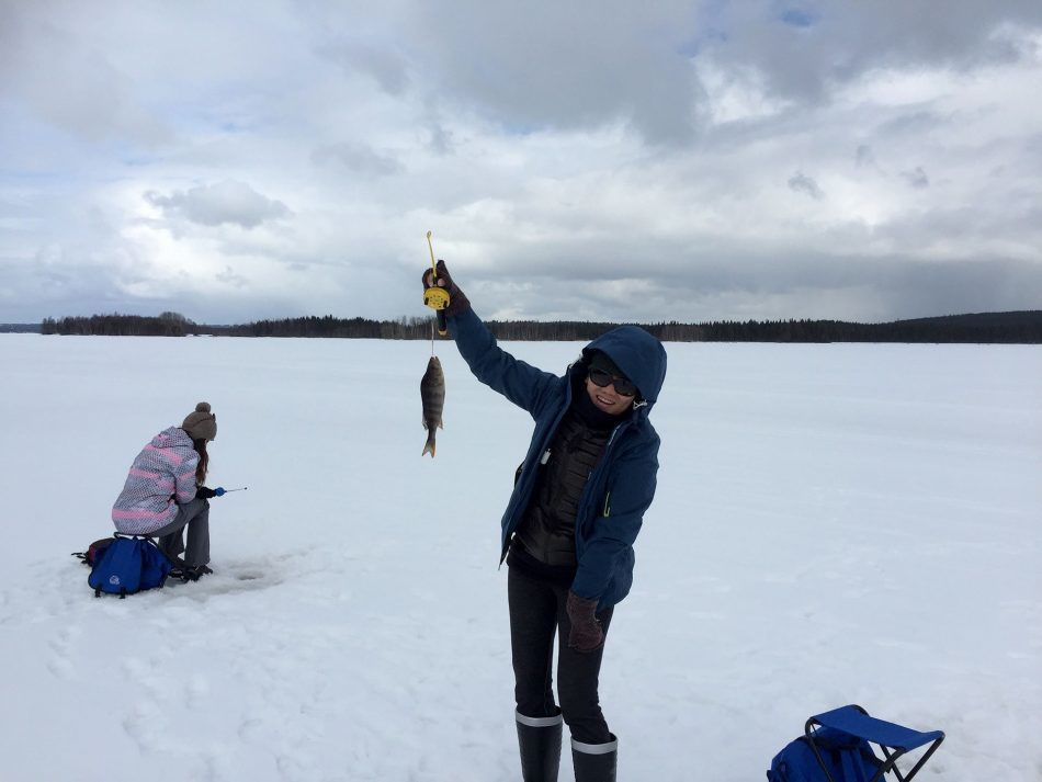 Ice Fishing and Snow Shoeing Tour
