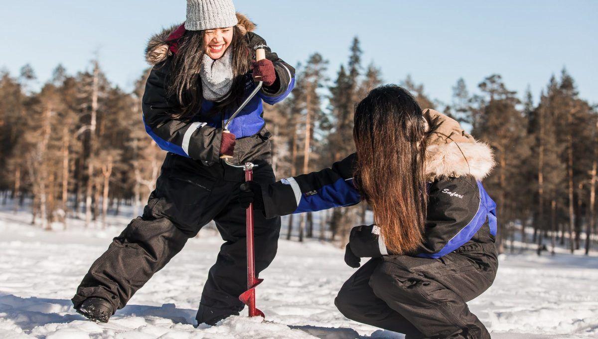 Ice Fishing Rovaniemi Tour Lapland