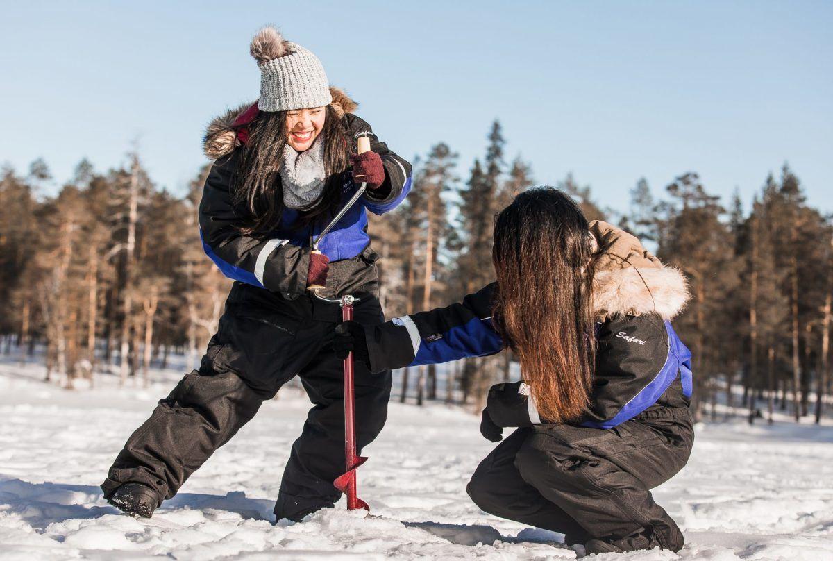Ice Fishing Tour Rovaniemi Lapland