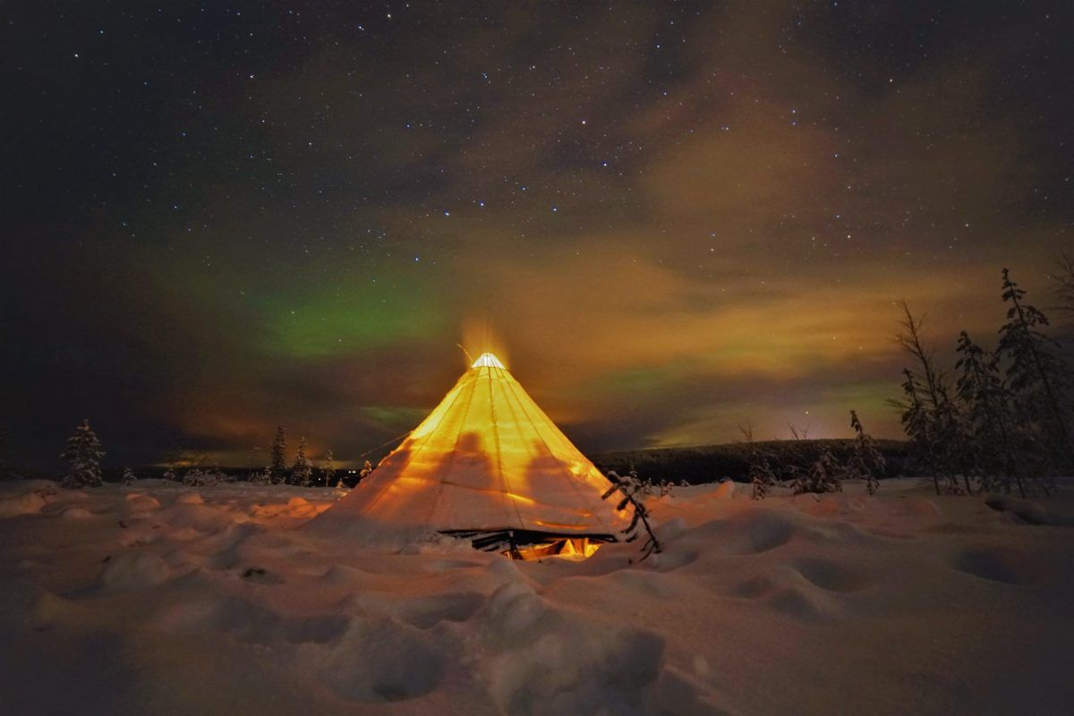 Teepee Northern Lights