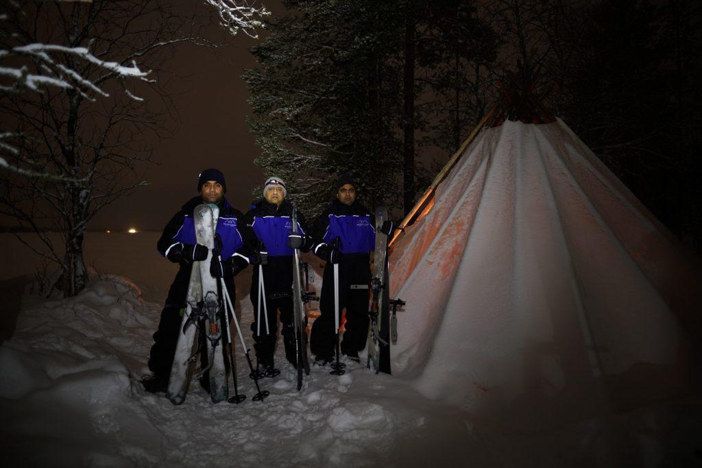 ski trekkers