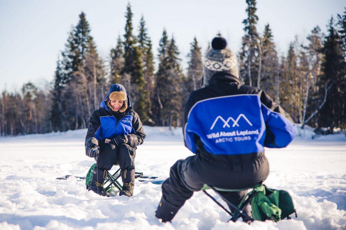 Rovaniemi ice fishing