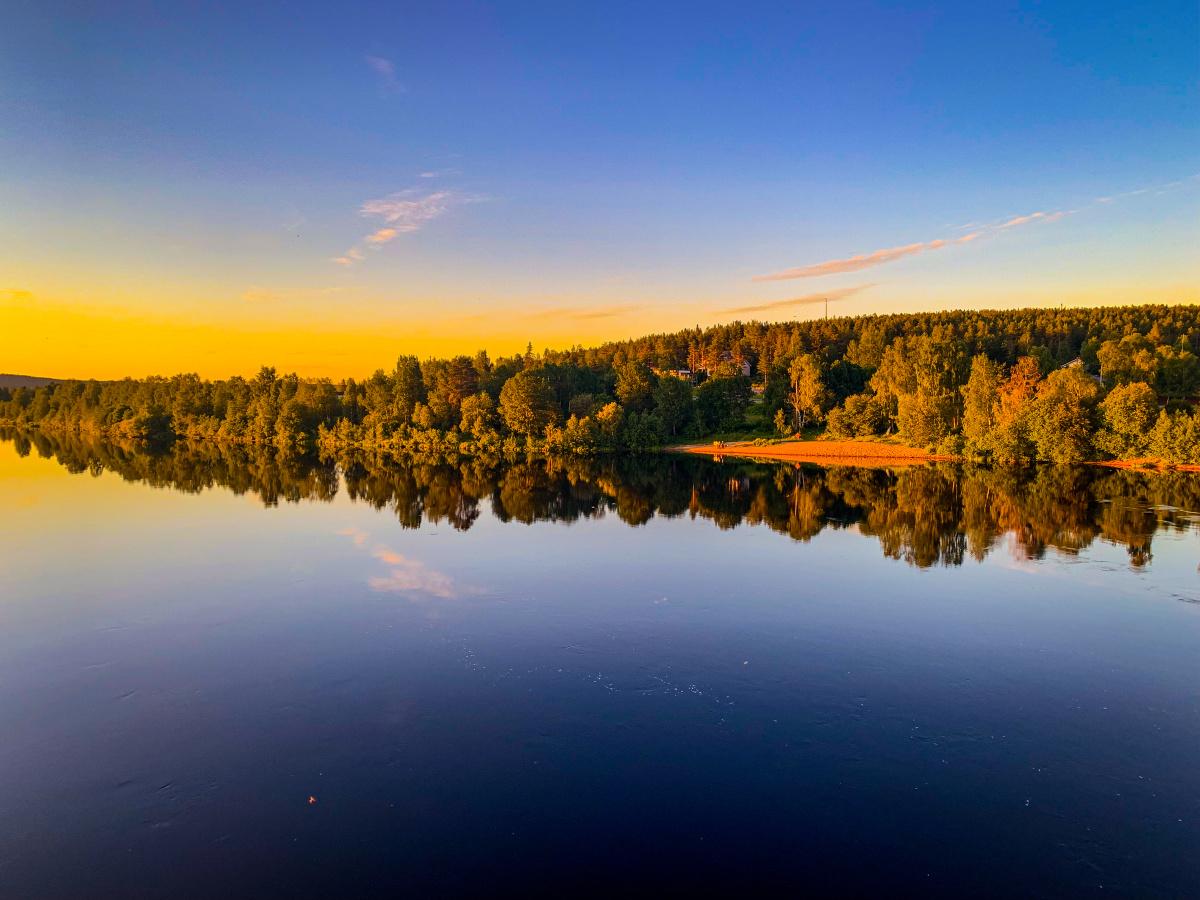 The Midnight Sun in Rovaniemi