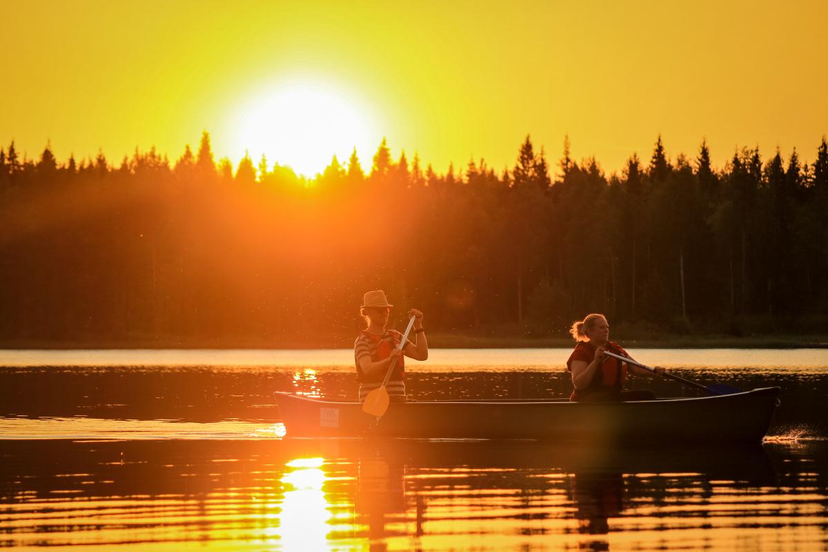 Canoeing under the Midnight Sun